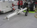 Wide body aircraft towbars